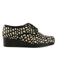 Robert Clergerie - Black 'Azor' Lace-Up Shoes - Lyst
