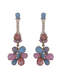 Erickson Beamon | Pink Botanical Garden Earrings | Lyst