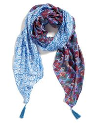 Michael Stars | Blue 'mixed Tiles' Wrap | Lyst