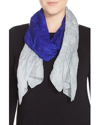 Eileen Fisher | Blue Wool & Silk Scarf | Lyst