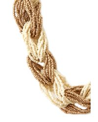 Forever 21 - Metallic Contrast Braid Necklace - Lyst
