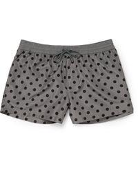 Dolce & Gabbana | Gray Short-Length Polka-Dot Swim Shorts for Men | Lyst