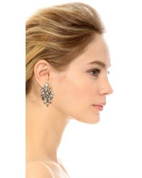 Elizabeth Cole - Metallic Floating Crystal Earrings - Lyst