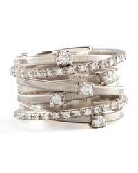 Marco Bicego | Metallic Goa Seven-row White Gold Diamond Ring | Lyst