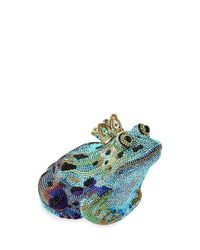 Judith Leiber Couture - Blue Crystal New Frog Prince Minaudiere - Lyst