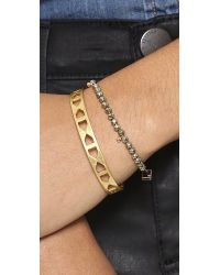 Ginette NY - Pink Fool's Gold Faceted Bracelet - Lyst