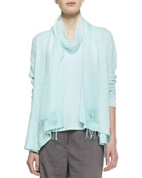 Eileen Fisher - Blue Silk Shibori Jacquard Scarf - Lyst