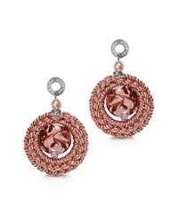 Antica Murrina | Avant Gard Pink Murano Glass Long Drop Earrings | Lyst