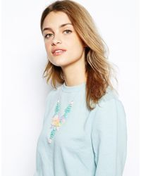 Tatty Devine - Multicolor Pastel Mexican Embroidery - Lyst