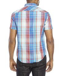Original Penguin - Blue Classic Fit Plaid Button-Down Shirt for Men - Lyst