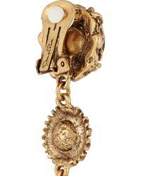 Oscar de la Renta   Metallic Gold-Tone Crystal Earrings   Lyst