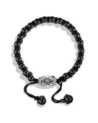 David Yurman - Metallic Spiritual Beads Two-row Bracelet With Black Onyx for Men - Lyst