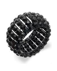 INC International Concepts - Black Jettone Stone Stretch Bracelet - Lyst