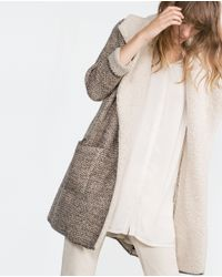 Zara | Gray Jacket With Lapels | Lyst