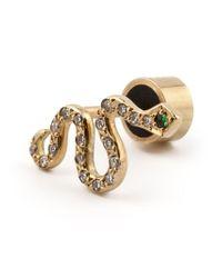 Ileana Makri - Metallic Diamond Snake Earrings - Lyst