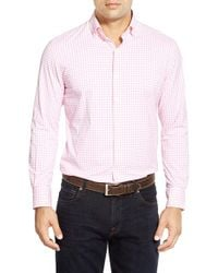 Peter Millar | Pink 'sheila Tattersall' Regular Fit Easy Care Performance Sport Shirt for Men | Lyst