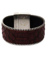Aech Cheli | Red 'zip' Bracelet | Lyst