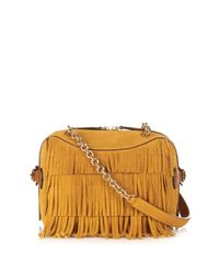 Burberry Prorsum - Brown Mini Bee Fringed Suede Shoulder Bag - Lyst