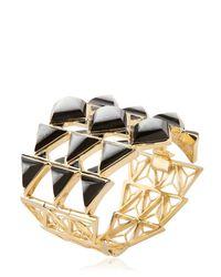 Isharya | Metallic Rani Rocks Cuff Bracelet | Lyst
