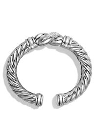 David Yurman - Metallic Metro Bracelet With Diamonds - Lyst