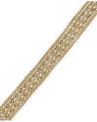 Macy's | Metallic Chain Rope Bracelet In 14k Gold | Lyst