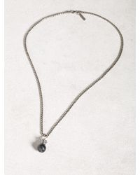 John Varvatos | Metallic Crowned Cats Eye Ball And Chain Necklace for Men | Lyst