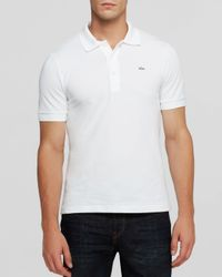 Lacoste - White Solid Luxe Slim Fit Polo for Men - Lyst