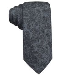 Vince Camuto | Black Malta Paisley Slim Tie for Men | Lyst