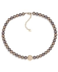 Carolee | Brown Glass Pearl Strand Necklace | Lyst