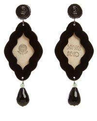 Anna E Alex - Black Monkey Safari Deco Wooden Earrings - Lyst