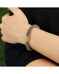 Carolina Bucci | Blue Navy Twister Band Bracelet | Lyst