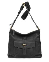 Lucky Brand | Black Medine Leather Crossbody Bag | Lyst