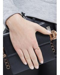 Katie Rowland | Pink Salome Rose Gold And Black Rhodium Ring | Lyst