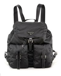 Prada | Black Nylon Backpack | Lyst