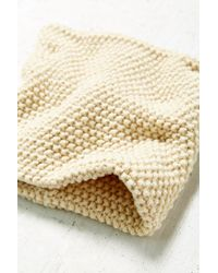 Urban Outfitters - White Seed Stitch Funnel Scarf - Lyst