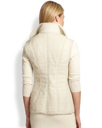 Ralph Lauren Black Label - White Croc-Embossed Leather Vest - Lyst