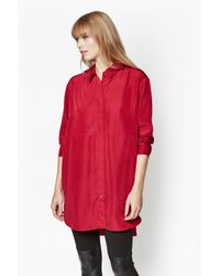 French Connection | Red Sammy Oversized Shirt | Lyst