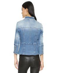 Balmain | Blue Double Breasted Denim Jacket | Lyst