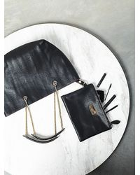 Free People - Black Womens Sylvia Snake Chain Tote - Lyst