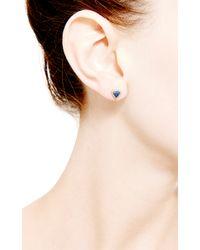 Dana Rebecca - Emily Sarah Triangle Earrings in Blue Sapphire - Lyst