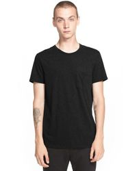 Belstaff | Black 'bartlow' Cotton Jersey Pocket T-shirt for Men | Lyst