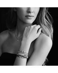 David Yurman - Metallic Petite Pavé Curb Link Bracelet With Diamonds In Gold - Lyst
