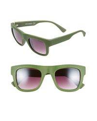 Steve Madden | Green 51mm Stippled Frame Sunglasses | Lyst