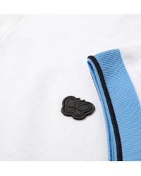 Bottega Veneta - White Zip Placket Cotton Pique Polo Shirt for Men - Lyst