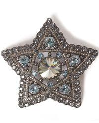 Lanvin | Metallic Silver-tone Elise Crystal Star Brooch | Lyst