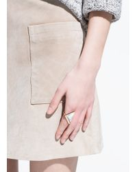 Mango | Metallic Semiprecious Stone Ring | Lyst