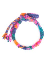 The Elder Statesman | Multicolor Double Wrap Woven Bracelet | Lyst