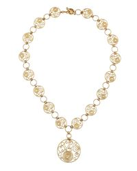 Roberto Coin | Yellow Diamond Circle Swirl Station Necklace | Lyst