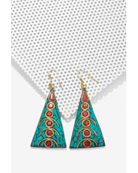 Nasty Gal | Blue From St Xavier Tika Mosaic Earrings | Lyst