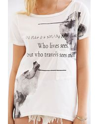 Urban Outfitters - White Clarity Travel The World Tee - Lyst